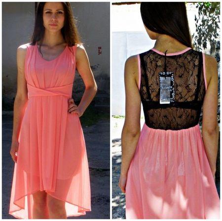 Как сшить платье из шифона на 50 размер 286