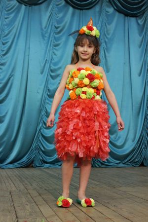 Для детей платья из мусорных пакетов своими руками