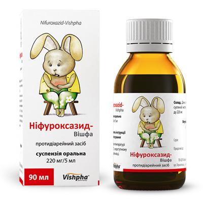 Суспензия «нифуроксазид» для детей: инструкция по применению.