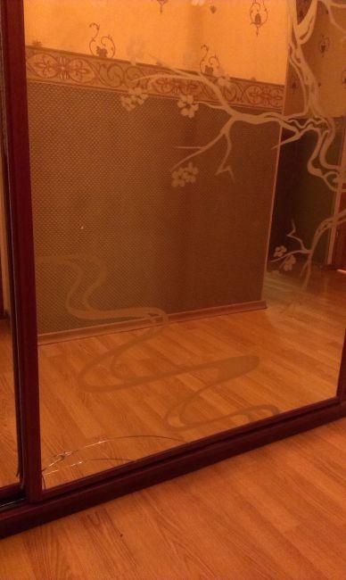 как замаскировать трещину на дверном стекле фото инструмент