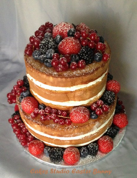 Двухъярусный торт рецепт с фото без мастики