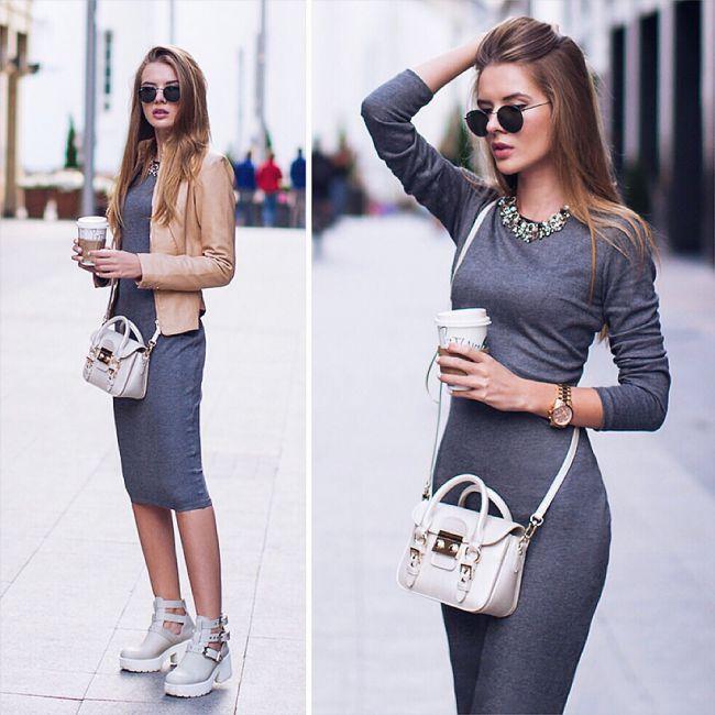 89bbf018cd1 платье спортивное черный серый S М прямой крой - Советчица Кидстафф