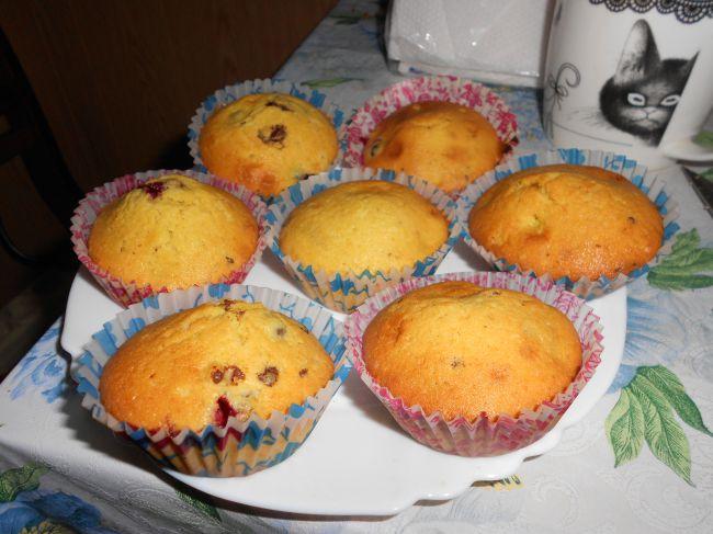 Кексы с ягодами в формочках рецепты
