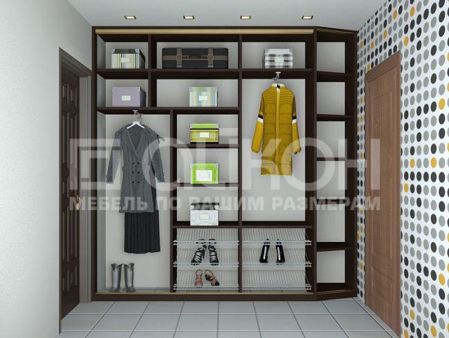 Шкаф встроенный в прихожую наполнение фото