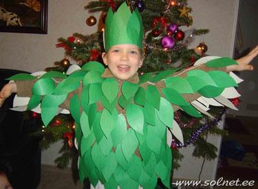 Костюм дерева для мальчиков