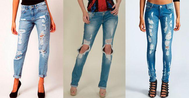 Как сделать дырки на коленках джинсах в домашних условиях