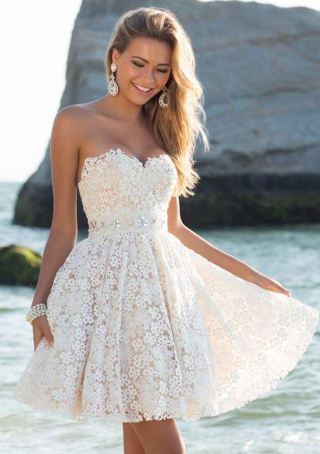 Короткие платья на свадьбу недорого