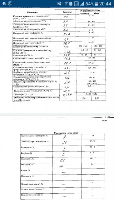 Бронхите при анализ показатели крови палочка 12 крови анализ